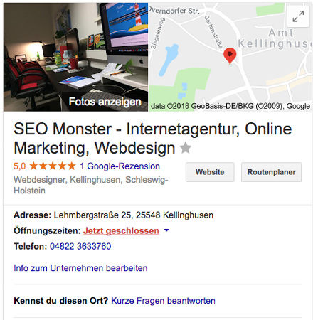 Google My Business Profilansicht